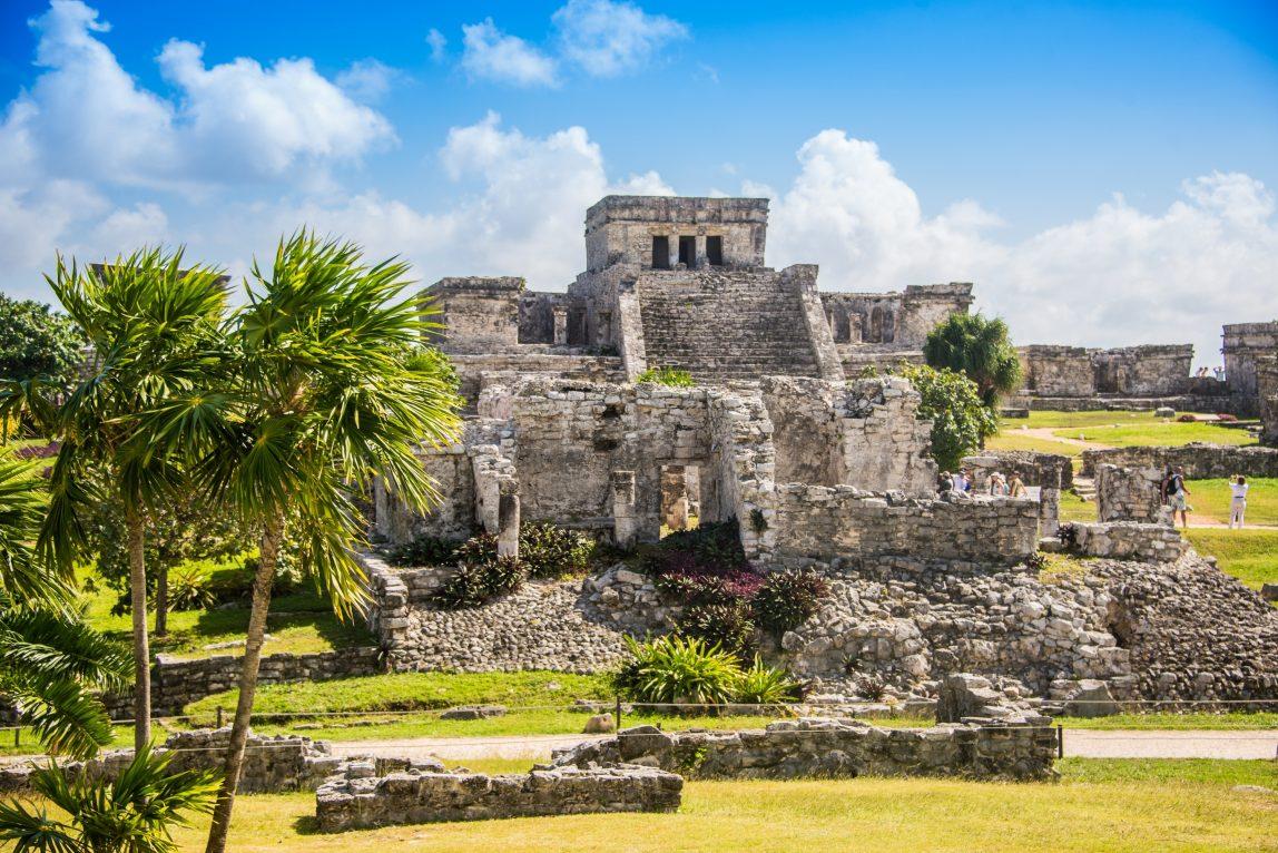 Meksiko Cancun Maya temppeli