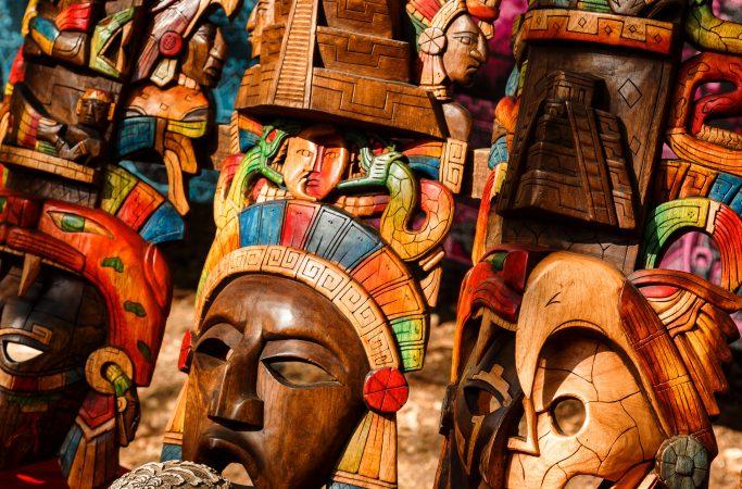 Meksiko Cancun naamio