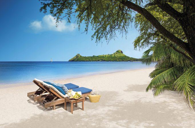 Karibia Saint Lucia ranta