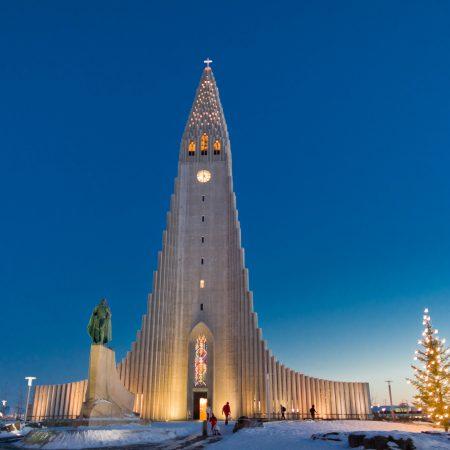 Islanti Reykjavik Hallgrimskirkja