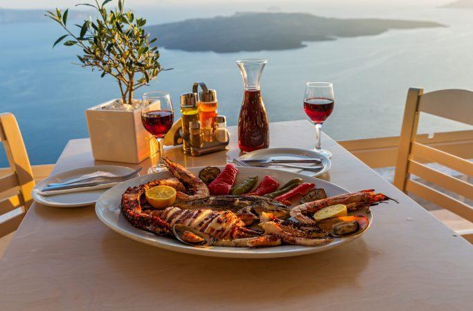 Kreikka Santorini gourmet
