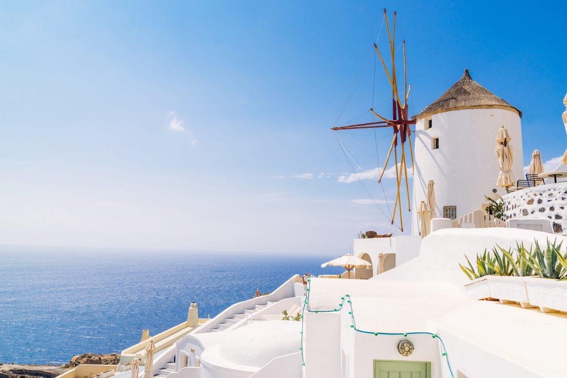 Kreikka Santorini tuulimylly