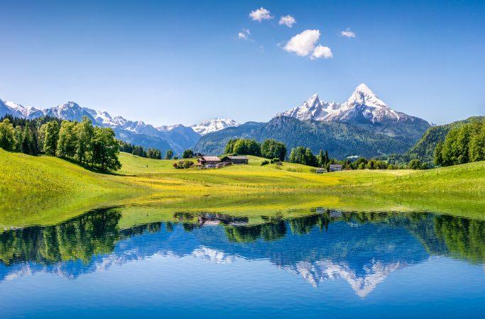 Ttävalta Salzburg järvi