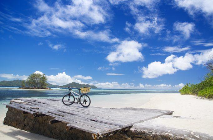 Seychellit La Digue laituri