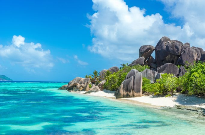 Seychellit La Digue ranta