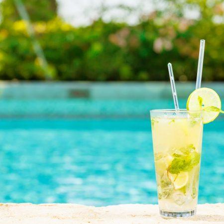 Seychellit Silhouette raikas juoma