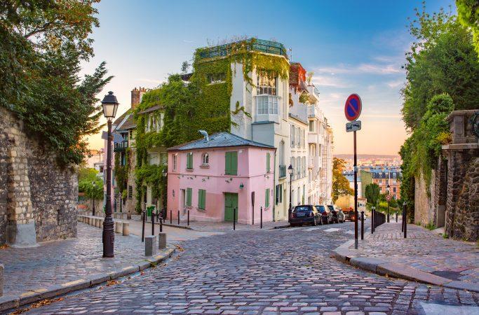 Ranska Pariisi katunäkymä