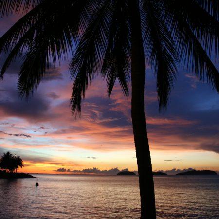 Malesia Kota Kinabalu auringonlasku