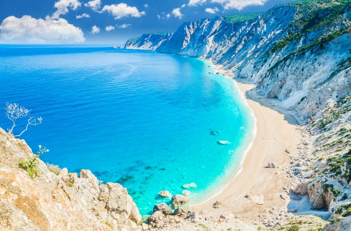 Kreikka Korfu ranta